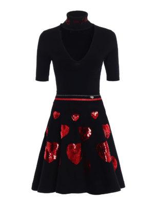 Philipp Plein: short dresses - Milla sequined hearts dress