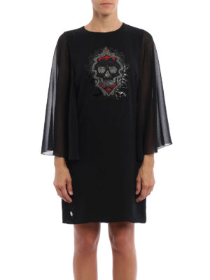 Philipp Plein: short dresses online - Alvarado frilled sleeves dress