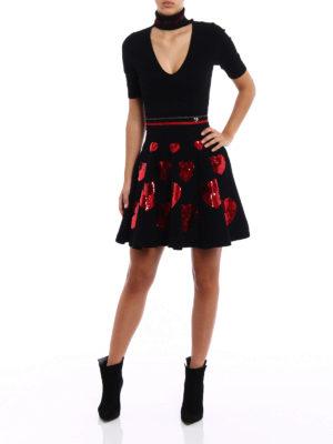 Philipp Plein: short dresses online - Milla sequined hearts dress