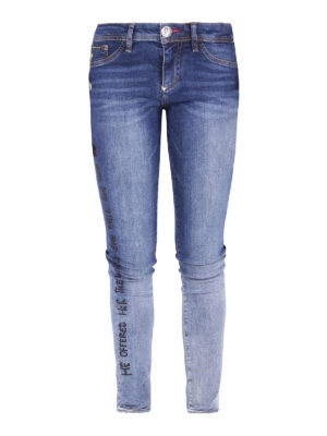 Philipp Plein: skinny jeans - Aaliyh Bay embroidered jeans