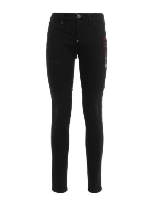 Philipp Plein: skinny jeans - Abalistes strass detailed jeggings