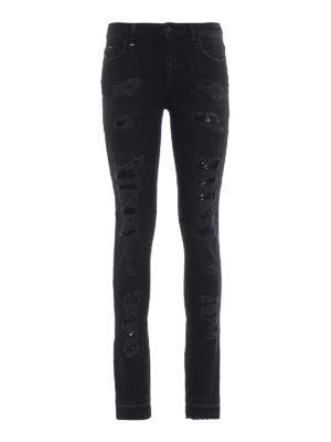 PHILIPP PLEIN: jeans skinny - Jeans neri skinny Morgan Fit