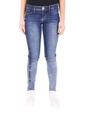 Philipp Plein: skinny jeans online - Aaliyh Bay embroidered jeans