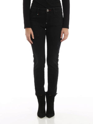 Philipp Plein: skinny jeans online - Abalistes strass detailed jeggings
