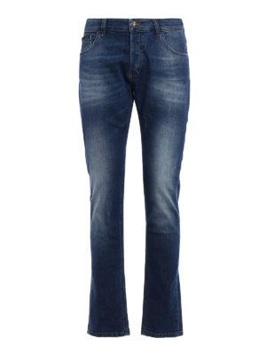 PHILIPP PLEIN: jeans dritti