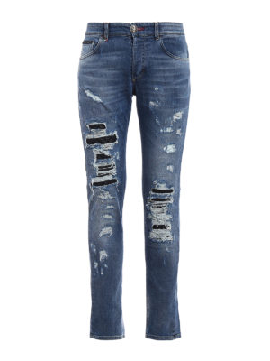 Philipp Plein: straight leg jeans - Cange super straight cut jeans