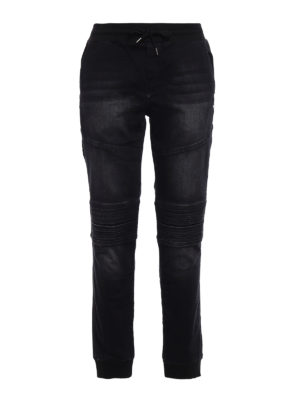 Philipp Plein: straight leg jeans - Controversia tracksuit-bottom jeans