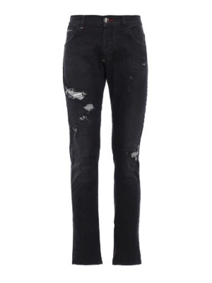 Philipp Plein: straight leg jeans - Era super straight cut jeans