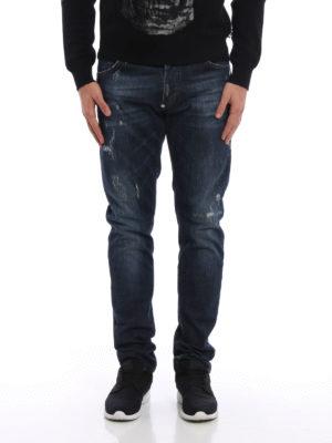 Philipp Plein: straight leg jeans online - Akio used effect straight leg jeans