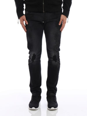 Philipp Plein: straight leg jeans online - Bakeneko jeans