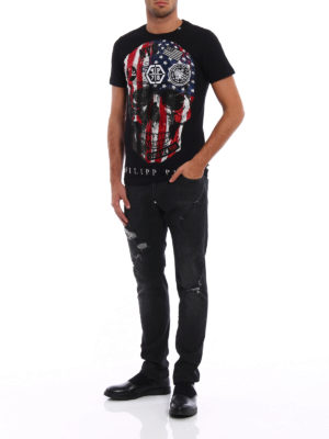 Philipp Plein: straight leg jeans online - Era super straight cut jeans