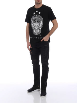 Philipp Plein: straight leg jeans online - Plein Ass Milano fit black jeans