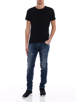 Philipp Plein: straight leg jeans online - Super Straight City Lights jeans