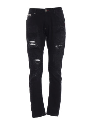 Philipp Plein: straight leg jeans - Plein Ass Milano fit black jeans