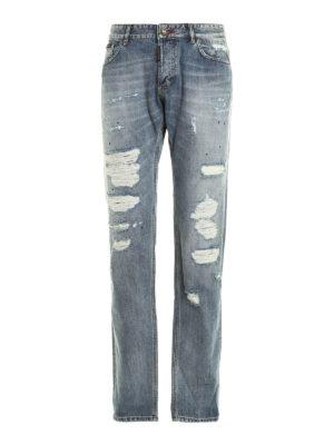 Philipp Plein: straight leg jeans - Rainbow denim jeans