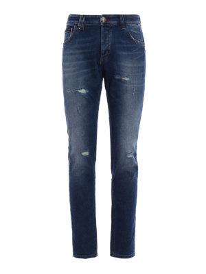 Philipp Plein: straight leg jeans - Super Straight City Lights jeans
