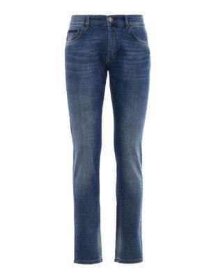 Philipp Plein: straight leg jeans - Worth faded blue denim jeans