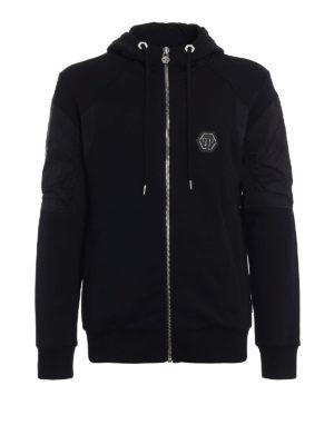 Philipp Plein: Sweatshirts & Sweaters - Ansya hooded zip sweat jacket