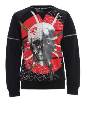Philipp Plein: Sweatshirts & Sweaters - Appear skull print sweatshirt