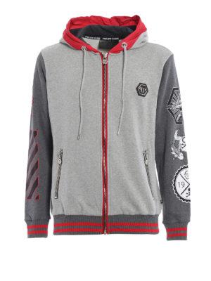Philipp Plein: Sweatshirts & Sweaters - Appoint zipped hoodie