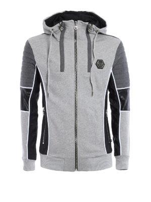 Philipp Plein: Sweatshirts & Sweaters - Biker style cotton hoodie