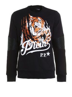 Philipp Plein: Sweatshirts & Sweaters - Blood Tiger cotton sweatshirt