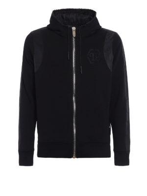 Philipp Plein: Sweatshirts & Sweaters - Both satin detailed hoodie