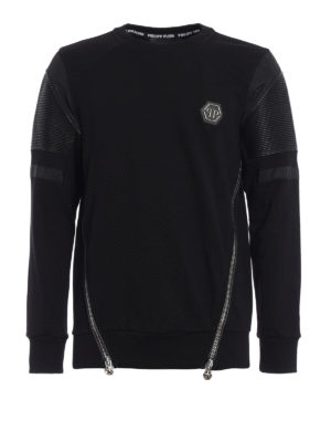 Philipp Plein: Sweatshirts & Sweaters - Embo biker style sweatshirt
