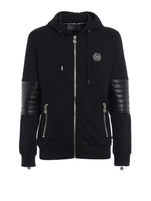 Philipp Plein: Sweatshirts & Sweaters - Nyorai hooded sweat jacket