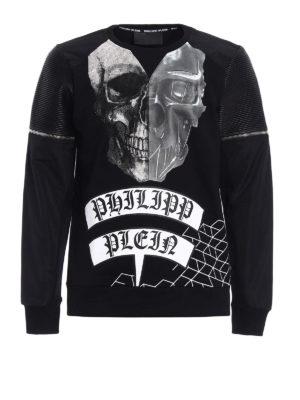 Philipp Plein: Sweatshirts & Sweaters - Oni biker style sweatshirt