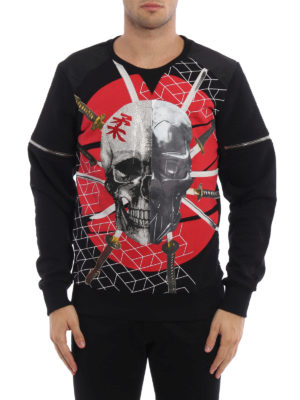 Philipp Plein: Sweatshirts & Sweaters online - Appear skull print sweatshirt