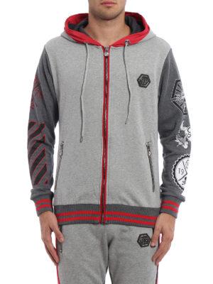 Philipp Plein: Sweatshirts & Sweaters online - Appoint zipped hoodie