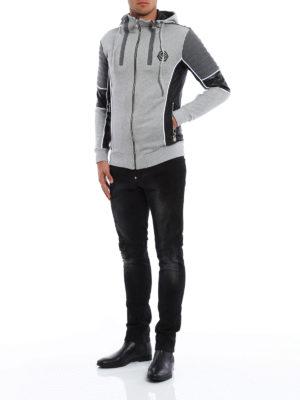 Philipp Plein: Sweatshirts & Sweaters online - Biker style cotton hoodie