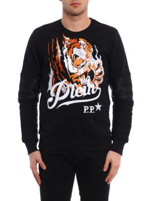 Philipp Plein: Sweatshirts & Sweaters online - Blood Tiger cotton sweatshirt