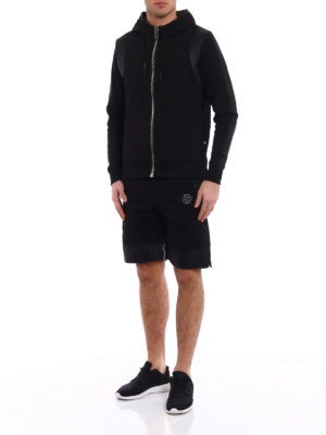 Philipp Plein: Sweatshirts & Sweaters online - Both satin detailed hoodie