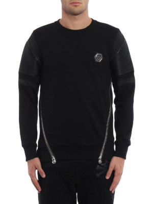 Philipp Plein: Sweatshirts & Sweaters online - Embo biker style sweatshirt