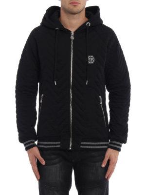 Philipp Plein: Sweatshirts & Sweaters online - Shaka quilted cotton hoodie