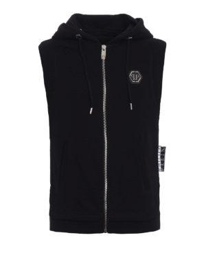 Philipp Plein: Sweatshirts & Sweaters - Ready sleeveless hoodie