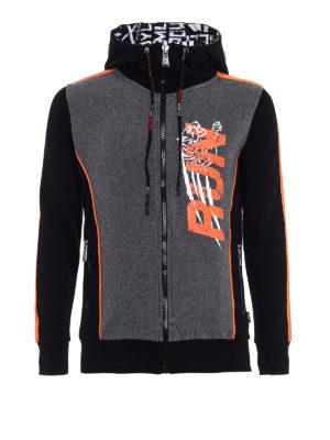 Philipp Plein: Sweatshirts & Sweaters - Run hooded sweat jacket