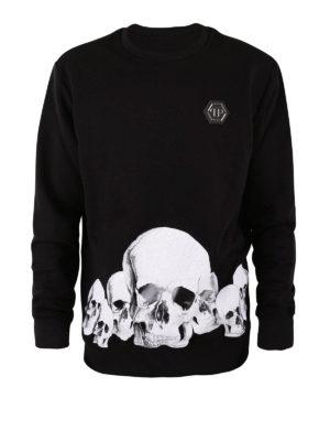 PHILIPP PLEIN: Felpe e maglie - Felpa Skulls in cotone