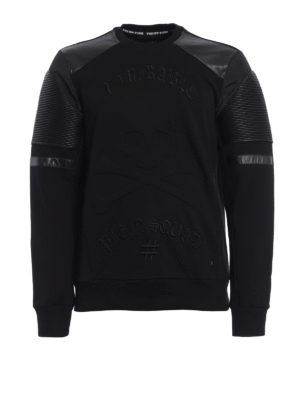 Philipp Plein: Sweatshirts & Sweaters - Tsu-mi biker style sweatshirt