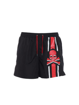 Philipp Plein: Swim shorts & swimming trunks - Me Now printed nylon swim shorts