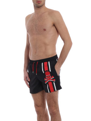 Philipp Plein: Swim shorts & swimming trunks online - Me Now printed nylon swim shorts