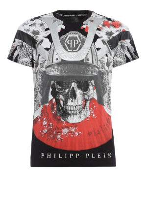 Philipp Plein: t-shirts - Aizen maxi print T-shirt