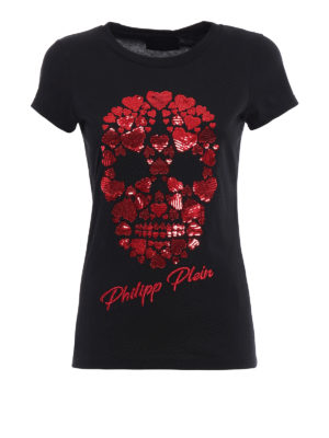 Philipp Plein: t-shirts - Albany Love embellished T-shirt
