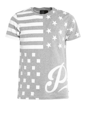 Philipp Plein: t-shirts - Aplike cotton T-shirt
