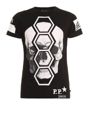 Philipp Plein: t-shirts - Basket embellished Tee
