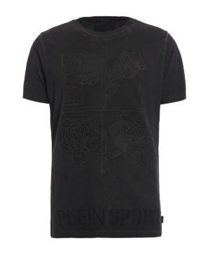 Philipp Plein: t-shirts - Blue Rya Plein Sport Tee