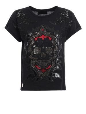 Philipp Plein: t-shirts - Color Six embellished T-shirt