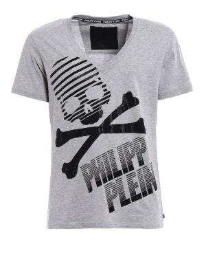 Philipp Plein: t-shirts - Curtis V neck T-shirt
